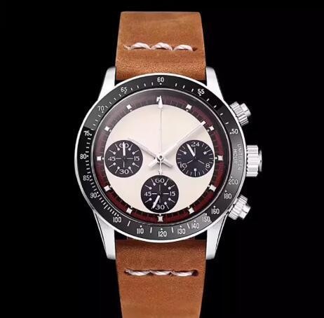 Reloj de lujo para hombre Cronógrafo Vintage Perpetuo Paul Newman Japonés de cuarzo Hombres de acero inoxidable para hombre Relojes Relojes de pulsera 001