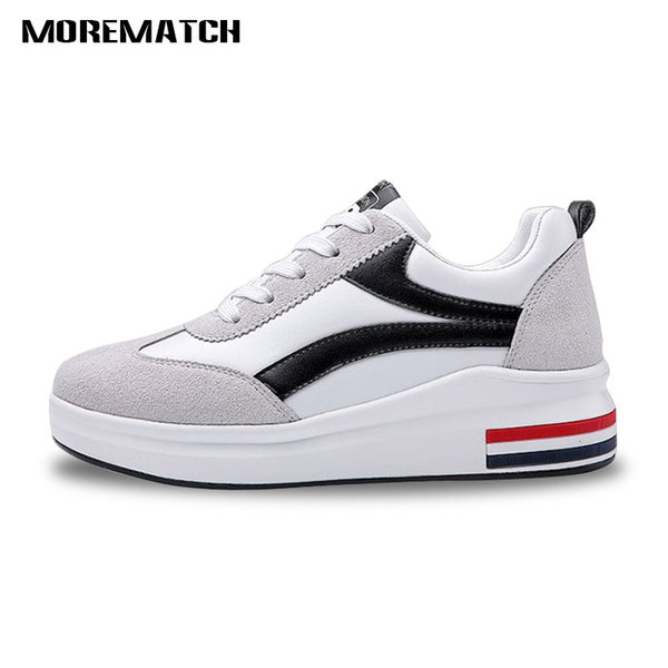 Morematch Scrub Chaussures pour femmes Flying Weaving Comfort Intérieur rehausseur de baskets Outdoor Walking Jogging Air Cushion Shoes