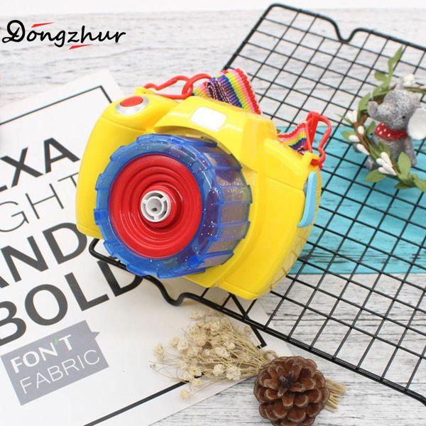 Dongzhur New High Quality Bubble Camera Toys Light Music Electric Bubble Gun Toy For Children Kids Toys 12X9X8.5cm CAS8981
