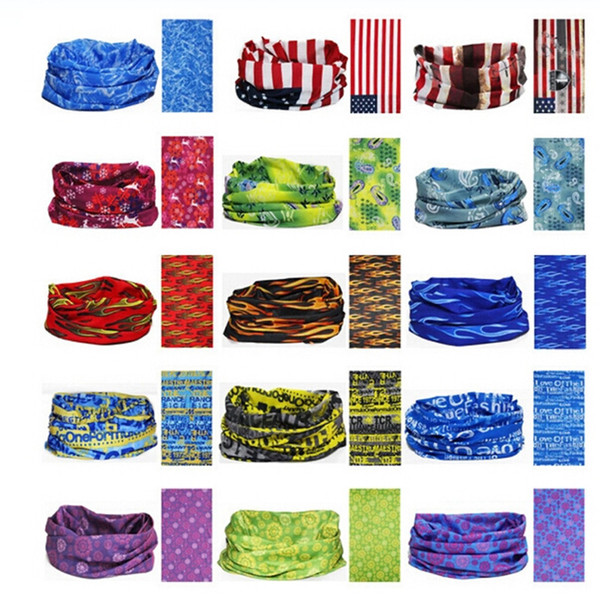 best selling Custom Multi-function Polyester Buff Sports Head Scarf Moisture Wicking Quick Drying Outdoors Seamless Magic Bandana Wholesale