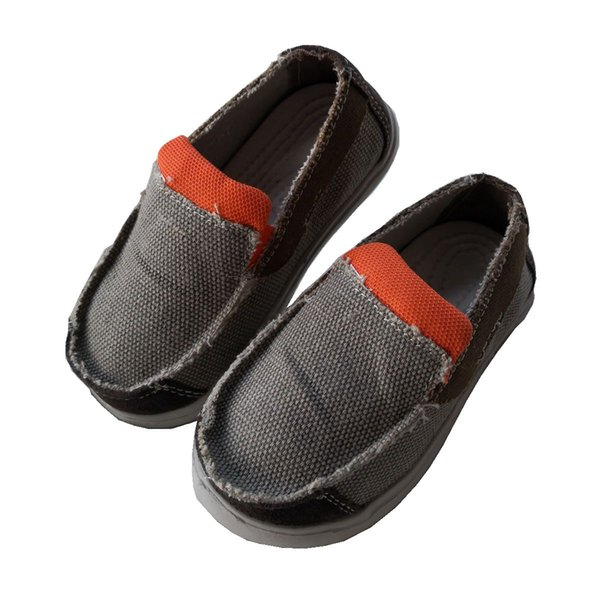 Wholesale Kids Blank Canvas Shoes Kids Flat EVA Shoes Children Canvas Shoes Size 6-13# MOQ 1 Pairs