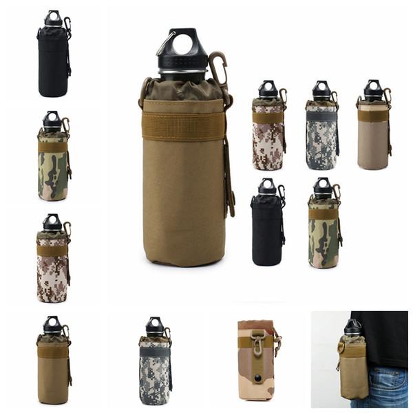 Wasserflasche Pouch Tasche Im Freien Mineral Cup Tasche Travel Camp  Glasabdeckung Woodland Sustainment Handtasche Tasche Armee Küche  Organisation GGA956