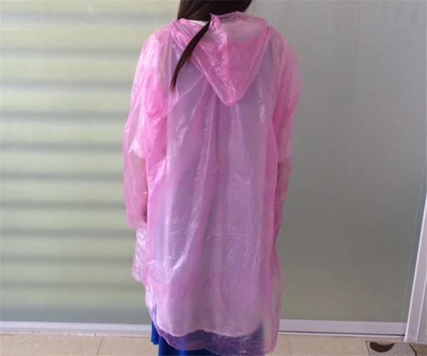 top popular Disposable Raincoat Colored One-off PE Rainwear Outdoor Travel Emergency Rain Coat Protable Rain Wear Unisex Men Women Hooded Poncho Best 2019