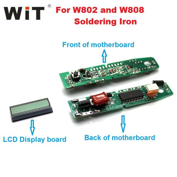 Original nuevo WIT W802 W808 Pieza de repuesto para soldador de la placa base LCD Circuito electrónico de control Placa madre