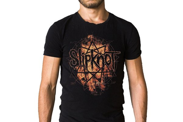 Fashion Unique Classic Cotton Men top tee Slipknot All Hope Is Gone Inspired Logo T-Shirt