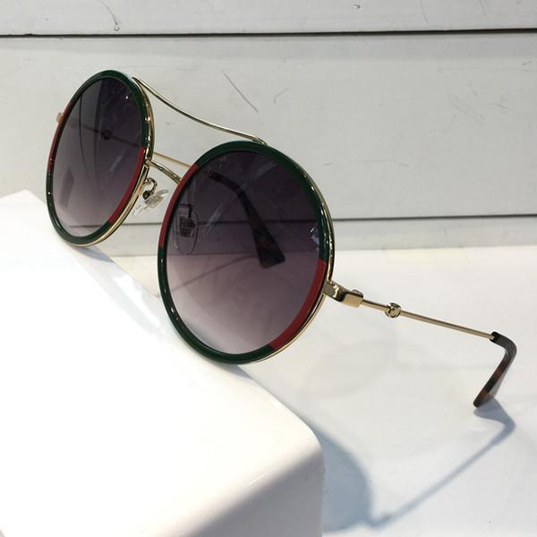 Lüks Kadınlar Tasarımcı Güneş Gözlüğü 0061 Moda StyleMixed Renk Retro Yuvarlak Çerçeve kadınlar için En Kaliteli gözlük UV Koruma Lens 0061 S