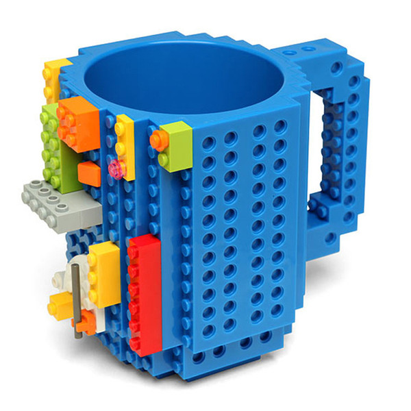 Build-On Brick Mug Building Block Puzzle Coffee Mug DIY Drinkware 12oz 350 ml Student Friends Gift