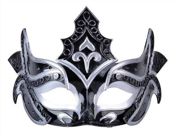 Novelty Venetian Mask Handsome Party Mask Warrior Half Face Plastic Roman Mask For Gladiator Masquerade Party