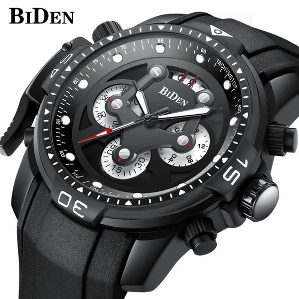 64a4ca2cb5e BIDEN Mens Relógio De Quartzo Top Marca De Luxo À Prova D  Água Cronógrafo  Relógio