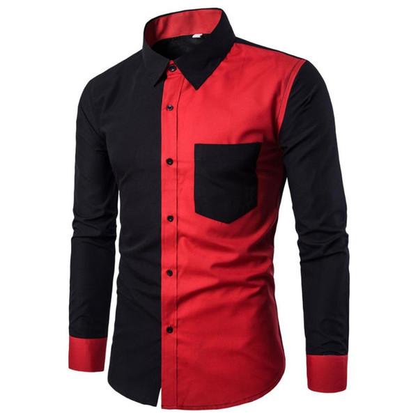 CHAMSGEND dos homens Novos Homens Moda Casual Slim Fit Camisas Elegantes Camisa de Manga Longa Blusa camisa do menino bonito L30718