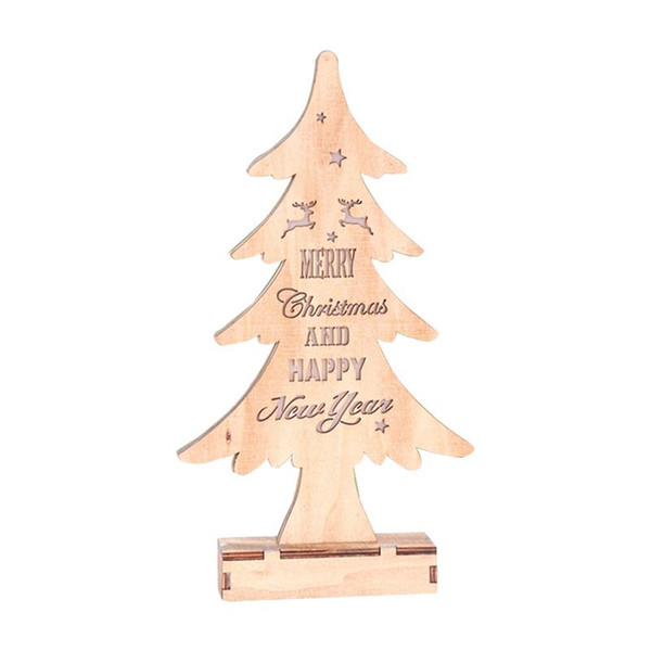 Christmas decoration, light color, wooden Christmas tree ornaments, hotel window decoration, light decoration
