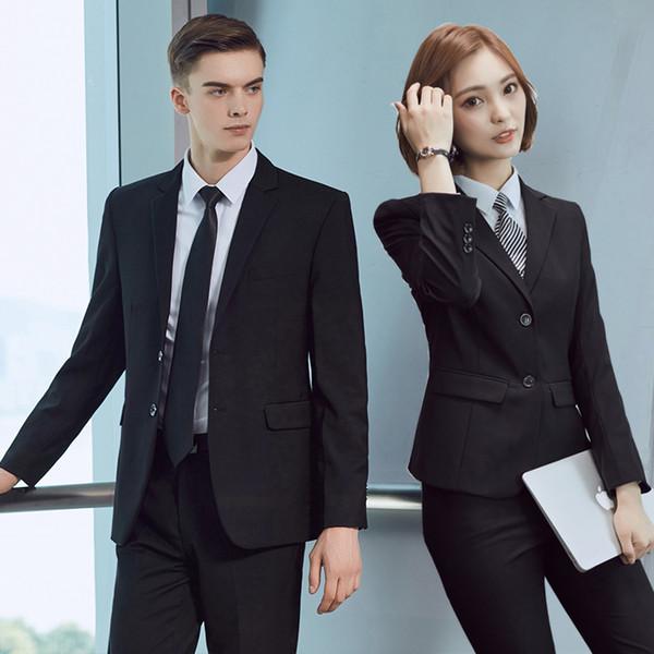 2017 New Korean Occupation Female Suits Slim Suit Jacket Pants Skirt Black Blue Business Suits for Men and Women Plus Size S-5XL
