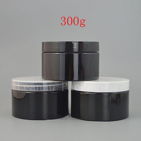 300 г х 24 пустой черный косметический крем банку с завинчивающейся крышкой 10 унций твердые духи контейнер порошок бутылки бальзам горшок крем банки