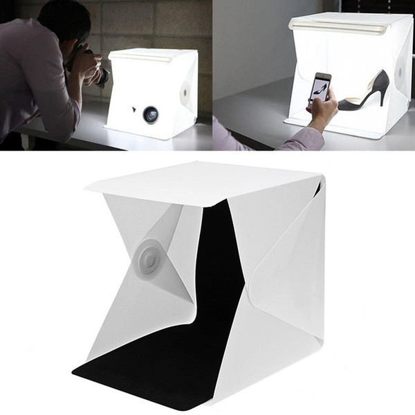 LETIKE Dobrável Portátil Lightbox Photo Studio Room Luz LED mini Soft Box Câmera Fotografia Fundo Tirar Fotos Tenda Kit