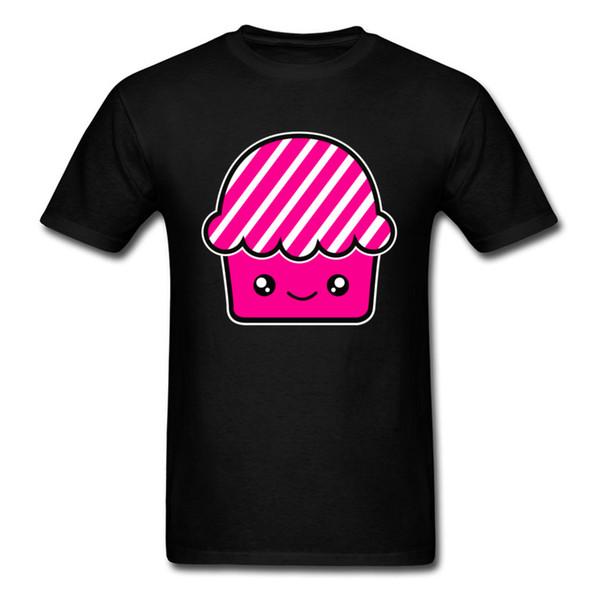 Men T-Shirt Summer Home Casual Clothing Kawaii Cupcake Fairy Cake Muffin Tshirt Male Regular Tee Shirts Nice T Shirt Pink