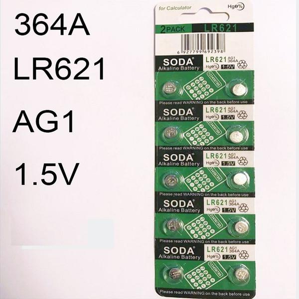 İzle Pil 364 LR621H AG1 1.5 V 364A İzle Aksesuarları Hg0% İzle Yeni Marka SODA için Alkalin Düğme 6.8-2.1mm
