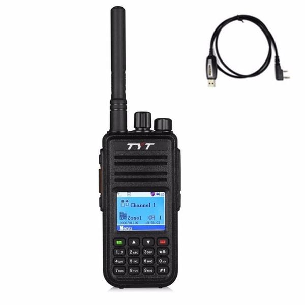 2018 DMR Walkie-Talkie TYT MD-380 Digital Mobile Radio + Headset-Programm Kabel Zubehör UHF 400-480mhz