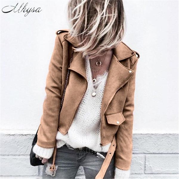 2018 Outerwear & Coats Basic Jackets Womens Ladies Retro Rivet Zipper Up Bomber Casual OL coats and jackets women plus size 5XL