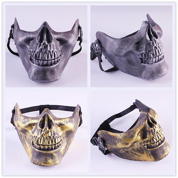 100 unids CS Skull Skeleton Airsoft Paintball media cara máscara protectora para el regalo de Halloween