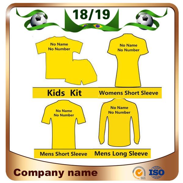 18/19 Squadra da club Maglia da calcio di alta qualità 2019 Any Man Woman Kit per bambini Magliette da calcio Invia il messaggio della squadra personalizza l'uniforme da calcio