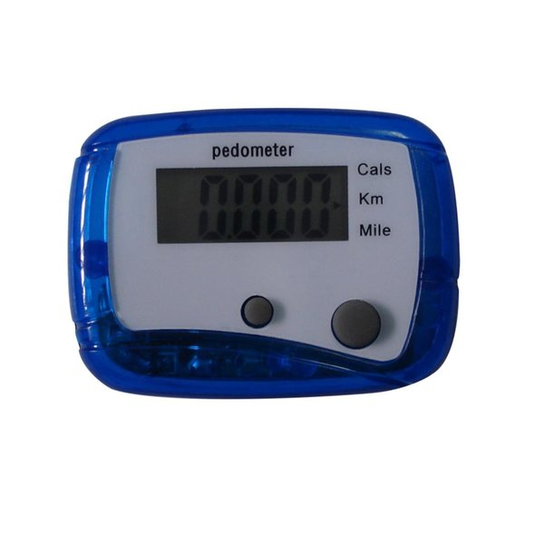 Mini LCD Pedometer Step Walking Pedometer Belt Clip Steps Count Distance Calculation Counter Digital Pedometers