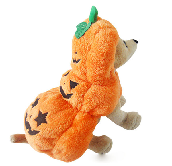 2018 New arrivel funny Halloween/Christmas pet clothes,costume pumpkin cosplay dog,best quality warm turned dressed Funny puppy coat
