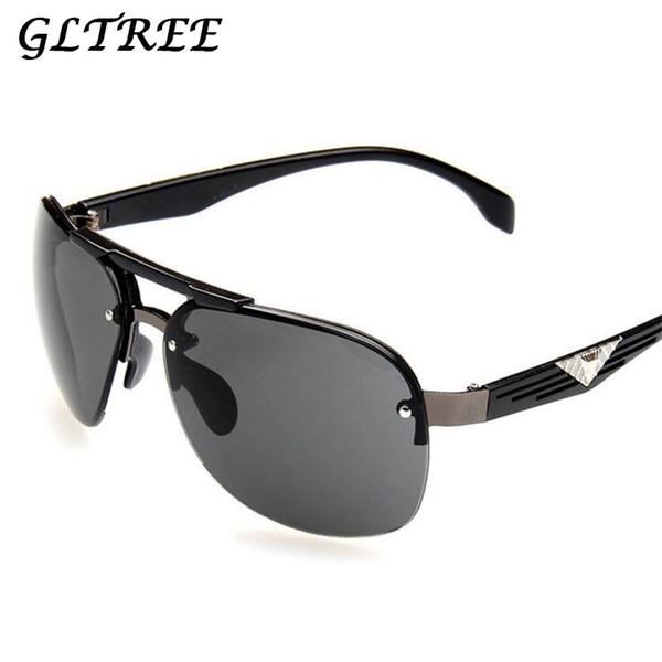 GLTREE Marke Designer Pilot Sonnenbrille Männer Sonnenbrille Fahren Männliche Mode Sonnenbrille Frauen Männliche Schwarze Brille UV400 Oculos G22