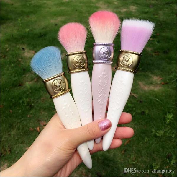 Dropshipping Hot sell les Merveilleuses LADUREE Cheek/Powder/Foundation Brush Cameo Porcelain Design - Beauty Makeup Blender Brushes Tools
