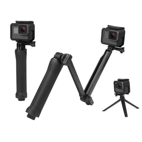 Wasserdichter Einbeinstativ Selfie-Stock für Gopro-Held 5 4 3 Sitzung ek7000 Xiaomi Yi 4K Kamerastativ gehen Prozusatz