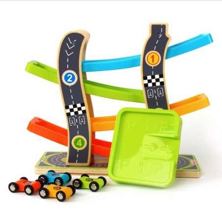 Toy Roller Coaster Track Toys Car Rail Car Toy for Children Racing Track Car for kids running cars