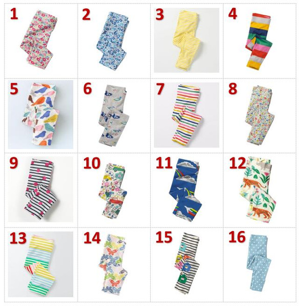 41 colors Girls Leggings New Baby Leggings for Girls Pants 100% Cotton Character Print Children Trousers Skinny Pants BY0155