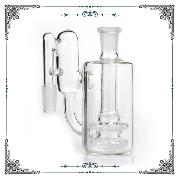 Glass Pipes Ash Catcher 14mm 18mm 18.8mm 14.4mm with Showerhead Dropdown Recycler Glass ashcatcher Smoking Water Pipes Free Shipping