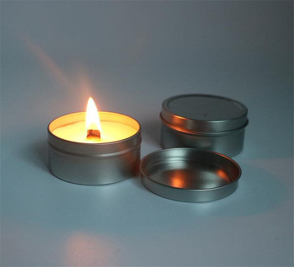 top popular Soy Wax Candle Natural Plant Eco Friendly Bougie With Scented Tinplate Cans Package Candles Pollution Free 2021