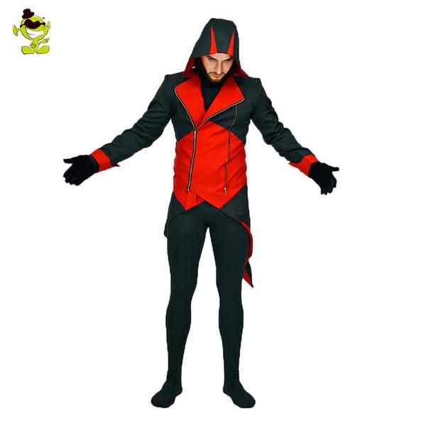 Männer halloween toten pool kostüm cosplay spiel horror teufel kleid für erwachsene mann halloween party rolle spielen teufel kostüme