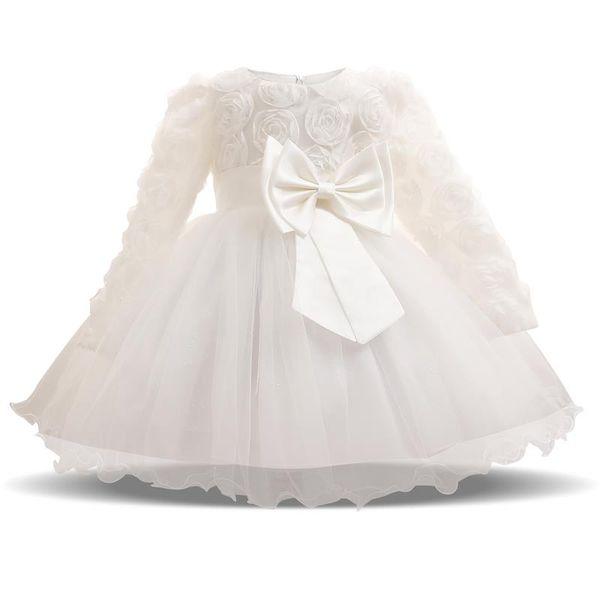 Großhandel Baby Mädchen Kleid Winter Tutu Kleider Für Neugeborene Hochzeit Taufe Party Tragen Kleinkind Mädchen 1 Jahr Geburtstag Kleider Taufe Von