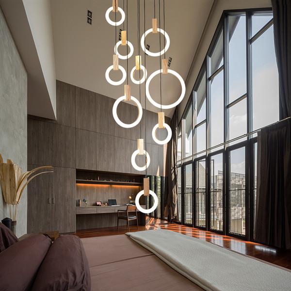 Großhandel Moderne LED Kronleuchter Nordischen Wohnzimmer Pendelleuchte  Schlafzimmer Leuchten Treppenbeleuchtung Neuheit Beleuchtung Loft ...