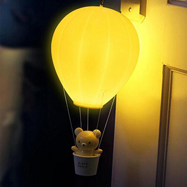 Großhandel Dimmbare Heißluftballon LED Nachtlicht Kinder Baby Kinderzimmer  Lampe Mit Touch Schalter / Fernbedienung USB Wiederaufladbare Wandleuchte  ...