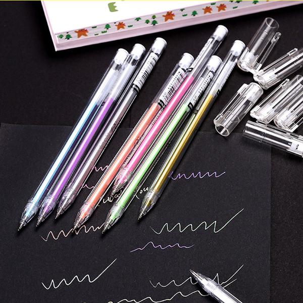 5 St/ück Textmarker Spritzen Stifte fl/üssig Kugelschreiber Glatt Gel-Kugelschreiber f/ür Studenten Kinder