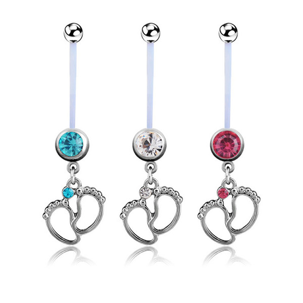 2019 Navel Pregnant Maternity Cz Jewelry Baby Belly Ring Belly Button Piercing Foot Rings Piercing Body Jewelry For Pregnant Women From Holaquinta
