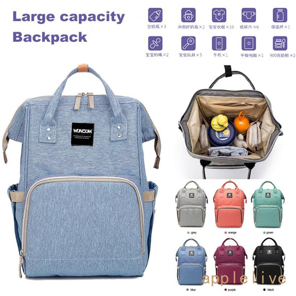 Mummy Maternity Nappy Diaper Bag Large Capacity Baby Bag Baby Bottle Bags