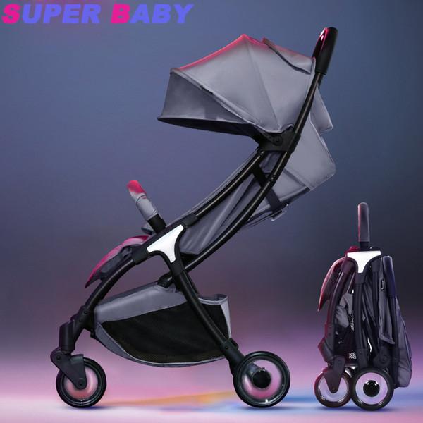Carrinho de bebê portátil guarda-chuva do bebê pode sentar-se deitado leve dobrável ultra-leve bolso pequeno carrinho infantil