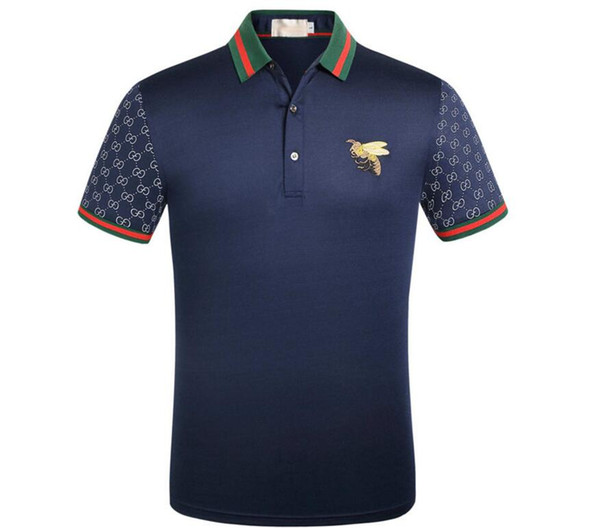 b56dd3389 Italy Tee T-Shirt supre Polo Shirts High Street Embroidery Gucci Garter  Snakes Little Bee