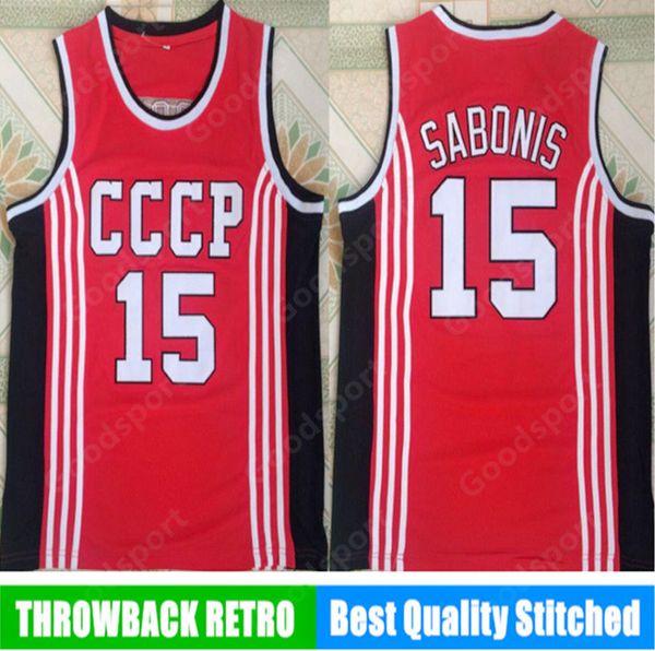 Russland Sabonis 15 Jerseys Jersey Herren Throwback Basketball Jersey retro Vintage genäht Hemd Klassisch Europäische Kollektion SPORT HOT 19