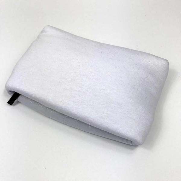 Marca de moda de tela de plata funda de cosméticos bolsa de maquillaje de lujo bolsa de aseo de belleza tocador vanidad embrague C monedero boutique regalo VIP al por mayor