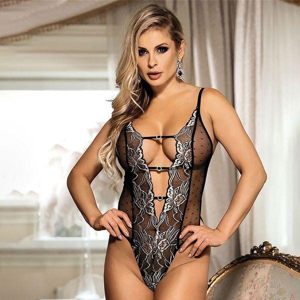 0f36f1b3f562 Cross-border summer new women s silver silk flower stitching rhinestones  sexy lingerie onesies