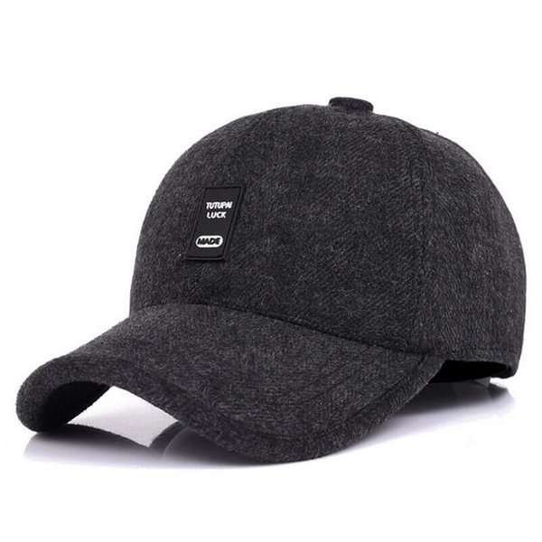SUOGRY Autumn and Winter Warm Cotton Baseball Sports Solid Hats Sports Sheet for Men and Women Father Best Gifts Hats