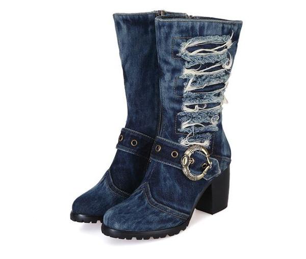 Mujer Martin Taille De Chunky Bottes Chaussures Chaudes 2018 Botas Bottes Hauts En Femmes Jean 42 À Talons Hiver Acheter Femme Botte Jean Plateforme SVpqGLUzM