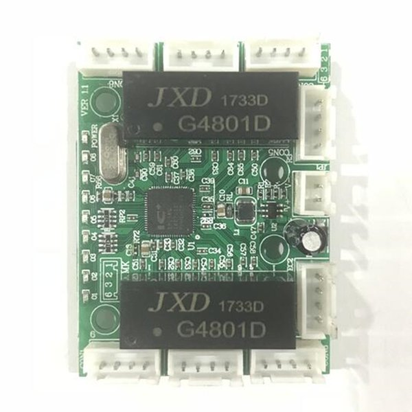 OEM 8 pin line mini design circuit board for switch module 10/100 MBPS 8 port PCB board LED switch module