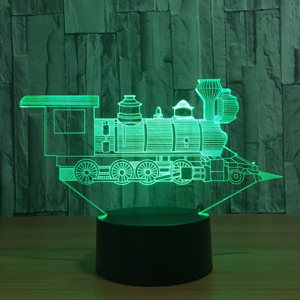 Cool Train Model 3D Night Light USB Novelty baby Gifts 7 Colors Changing LED Desk Table Lamp Decoration gift for children