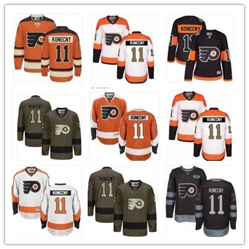 wholesale dealer b5aa7 6e625 2018 Philadelphia Flyers Jersey 11 Travis Konecny Jersey  Men#women#youth#baseball Jersey Majestic Stitched Hockey From  Jersey_best08, $26.14 | ...